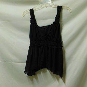 Vtg Rampage clothing Co BLK Mesh asymmetrical cami
